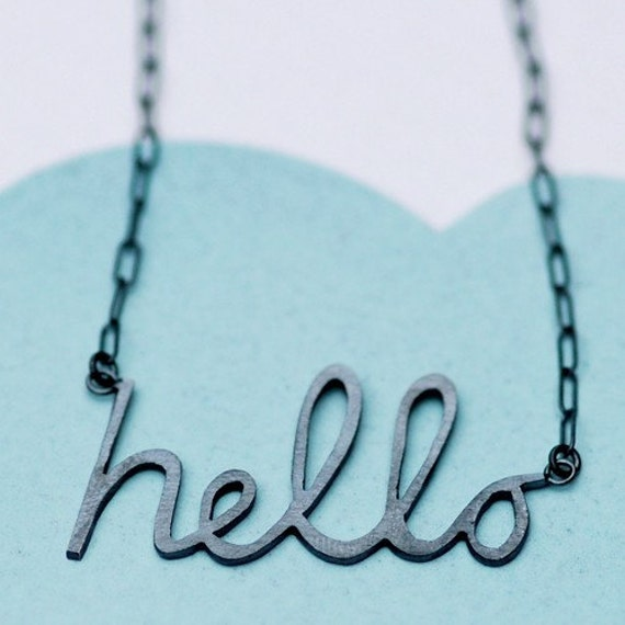 A Dark Hello Silver Necklace