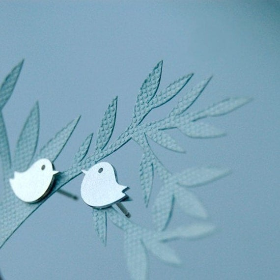 Textured Very Tiny Chick Earrings