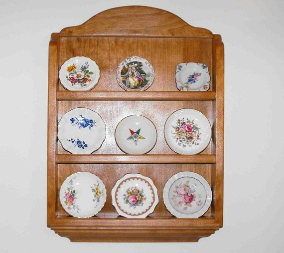 Items similar to decorative plate shelf cherry on etsy for Shelf decor items