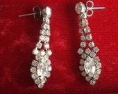 Vintage Diamante Drop post earrings