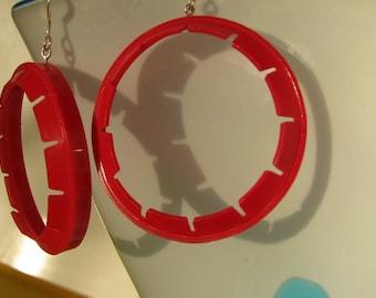 Naked Earrings-Red