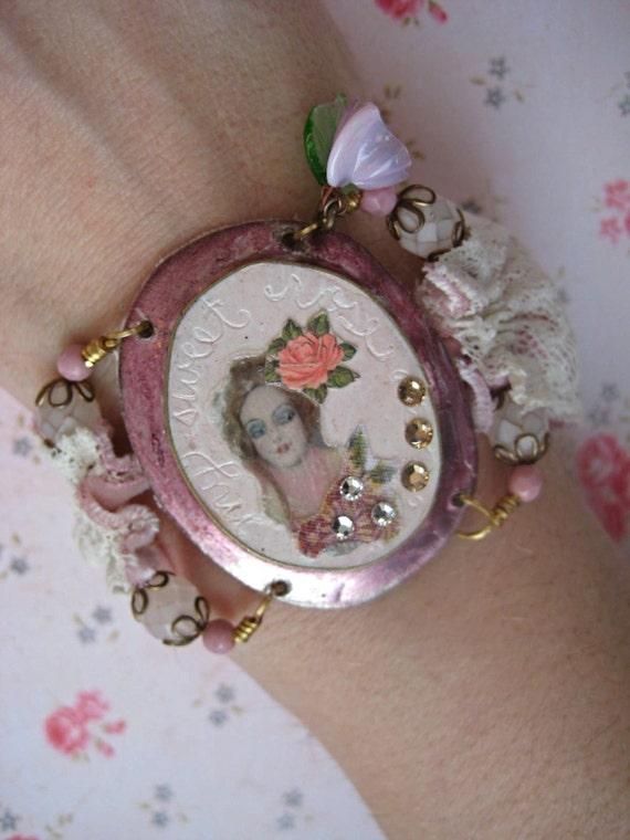 SALE Rosabelle boudoir girl cuff bracelet