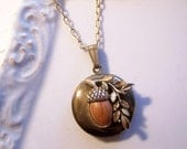 The Little Acorn Locket...pendant necklace