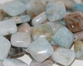 RESERVED FOR MONIKAROSE aquamarine 12mm diamond multicolor (AQMAR004-14)
