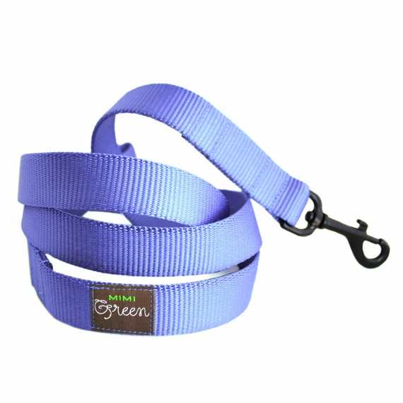 Nylon Webbing Dog Leash - 4' or 5' - 17 colors to choose from