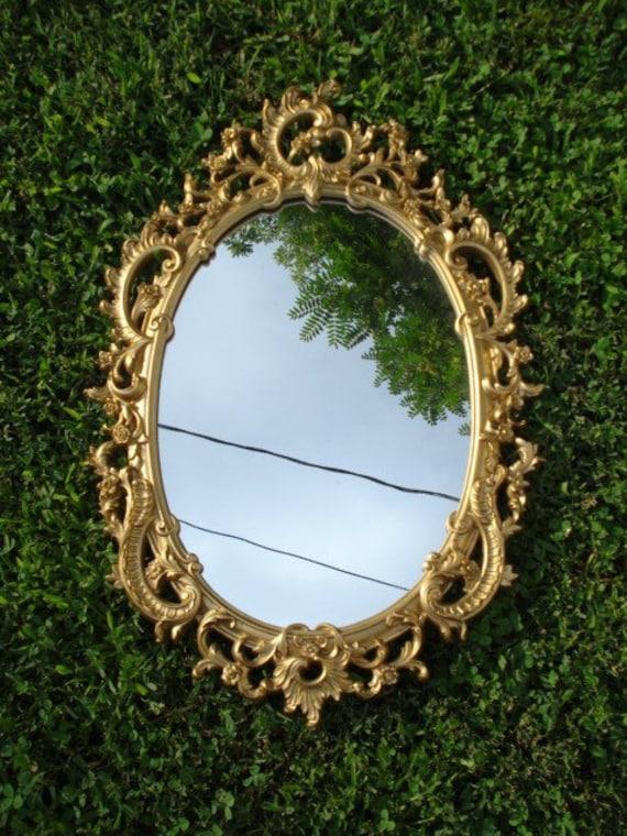 Large Vintage Oval Victorian Mirror Frame