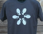 Mens GRENADE FLOWER tshirt -  Asphalt Gray with white tee shirt S-XL grenade tshirt