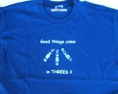 Mens Down Syndrome Good Things  shirt - Awareness Trisomy 21 chromosomes adult S M L XL XXL mens dark blue tshirt