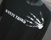 TALL Mens TShirt -- Bony Fingers Safety Third  tshirt - SHORT sleeve Safety 3rd shirt  xlt xxlt 3xlt tshirt  tall man masculine men etsybrc