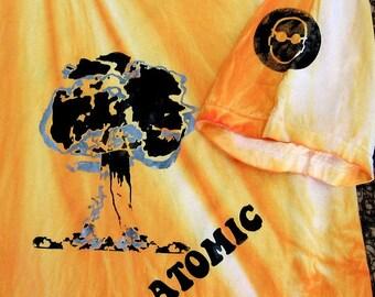 Atomic Bomb Hippie Radioactive TSHIRT Mens bomb tshirt yellow tshirt  gas mask humor apocalypse