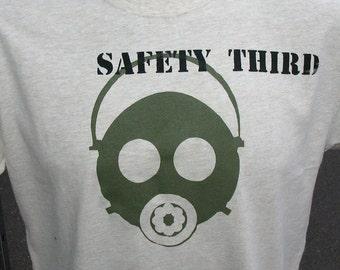 Teens Boys Gas Mask Safety Third tshirt -  XS to XL 2/4 to 18/20 Respirator safety shirt Fall children clothing kids teen clothing