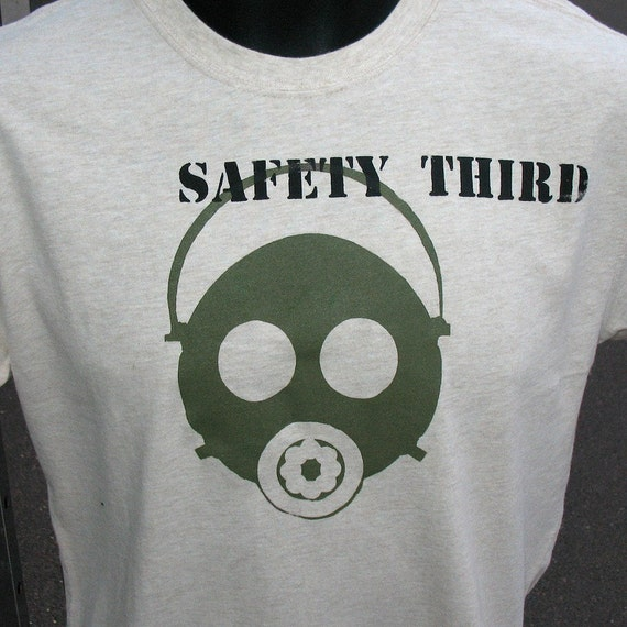 Teens Boys Gas Mask Safety Third tshirt -  XS to XL 2/4 to 18/20 Respirator safety shirt Fall children clothing kids teen clothing