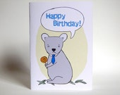 Talking Koala - Happy Birthday: Recycled Greeting Card
