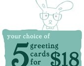Greeting Card Discount Pack - 5 for 18 - Choose Your Own Cards