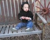 Reserved for glynnprince - Black BabyBean Poncho and Spats