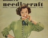Vintage Magazine - Modern Needlecraft - knitting - crocheting - embroidery - sewing - Fall 1952