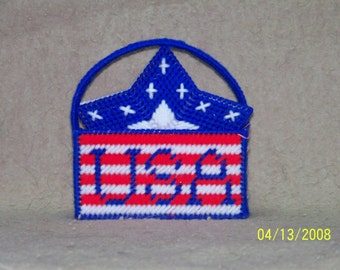 186 Stars USA Coaster Set