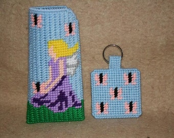 Fairy eyeglass case and matching keychain