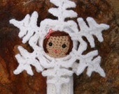 Crochet Pattern- Rebekah the snowflake amigurumi doll