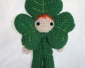 Crochet Pattern- Dave the shamrock amigurumi doll