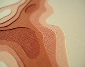 Topography in Terra Cotta - One handcut card