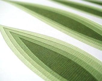 Retro Grass - original papercut (8 x 10)
