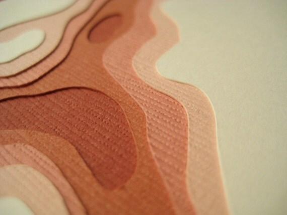 Topography in Terra Cotta - One handcut card