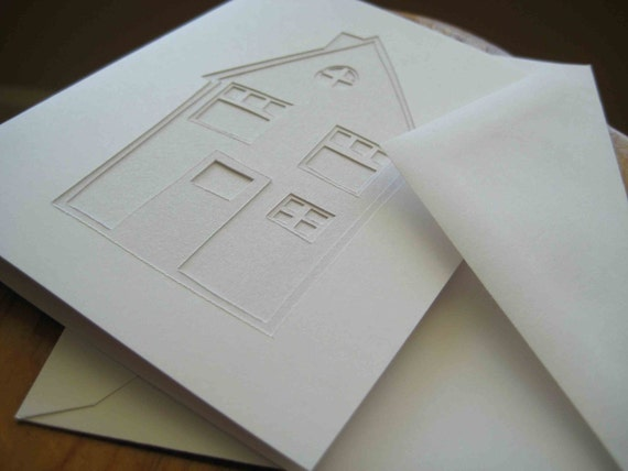 Little House - original, papercut card