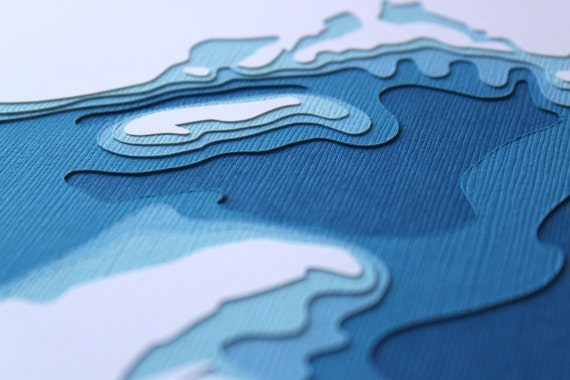 Lake Superior - original 8 x 10 papercut art