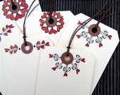 Heart and Flourish Gift Tags, 6 hand drawn shipping tags for your Valentine sweetheart by KisforCalligraphy