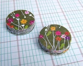 Garden Stickers, package of 25 handmade stickers, stick wild flowers to all your mail, by KisforCalligraphy