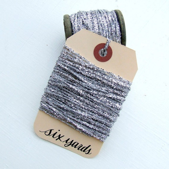 Silver Tinsel String  (6 yards)