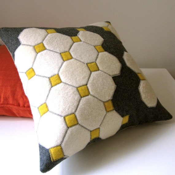 reserved for Anton. OCTAGON TILES PILLOW.