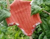 Orange Cap with Kimono Trim 6-12 mo.