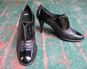 Authentic Vintage Coco CHANEL black quilted leather booties 9 - 9.5