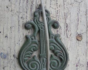 Vintage old jadeite green receipt wall hook