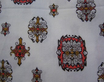 Vintage Art Deco print cotton fabric