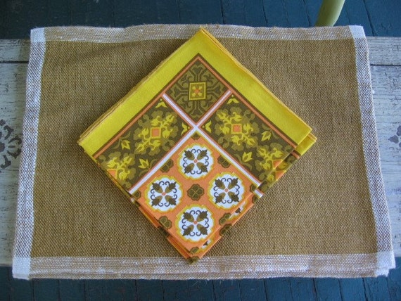 Take 15% off Vintage 1970s Tampella made in Finland placemats w/napkins NEW IN PACKAGE