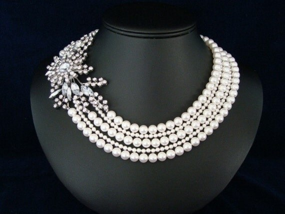 The Mae  -  Pearl Bridal Necklace
