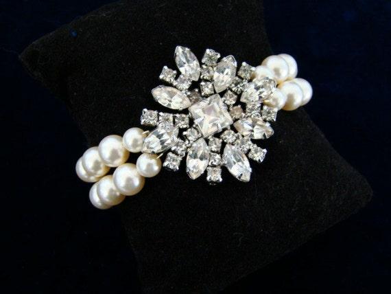 The Emerson  -  Pearl Bridal Bracelet