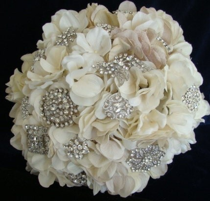 Rhinestone Brooch Bouquet Wedding Bridal Bouquet Vintage