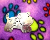 Vintage Sterling Silver Puppy Dog Pin    Free Shipping