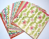 SUMMER SALE - MME 09 collection - double side cardstock papers pack - Ohlala for Her - set of 18 papers - 6x6 inches square