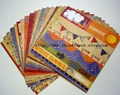 fancy pants designs papers pack - Beach Bum collection - set of 18 - 1 side cardstock - 6x6