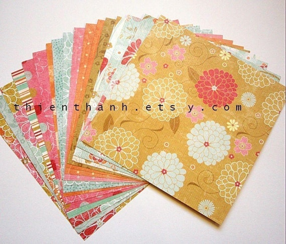 MME double side cardstock papers pack - Pretty Please collection - set of 18 papers - 6x6