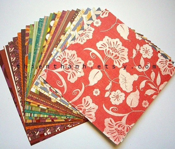 DCWV paper scrap pack - Fall 09 cardstock collection - set of 24 papers - 6 x 6 inches