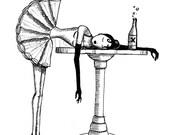 Drunken Ballerina ACEO
