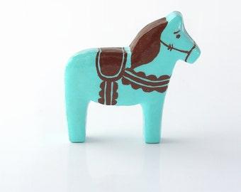 Blue Moon Dala Horse Figurine - TheClayPony Ice Cream Edition
