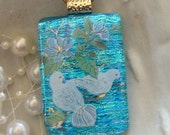 Free Necklace Doves in Paradise Dichroic Pendant