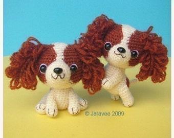 King Charles Cavalier Spaniel Puppy - PDF Crochet Pattern